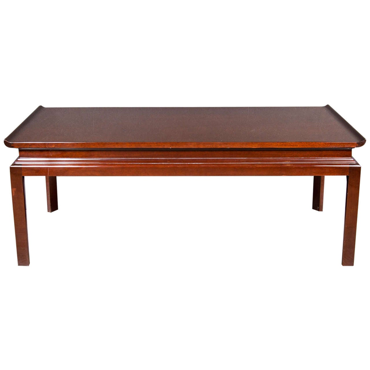 Modernist Pagoda Style Mid-Century Cocktail Table in the manner of James Mont