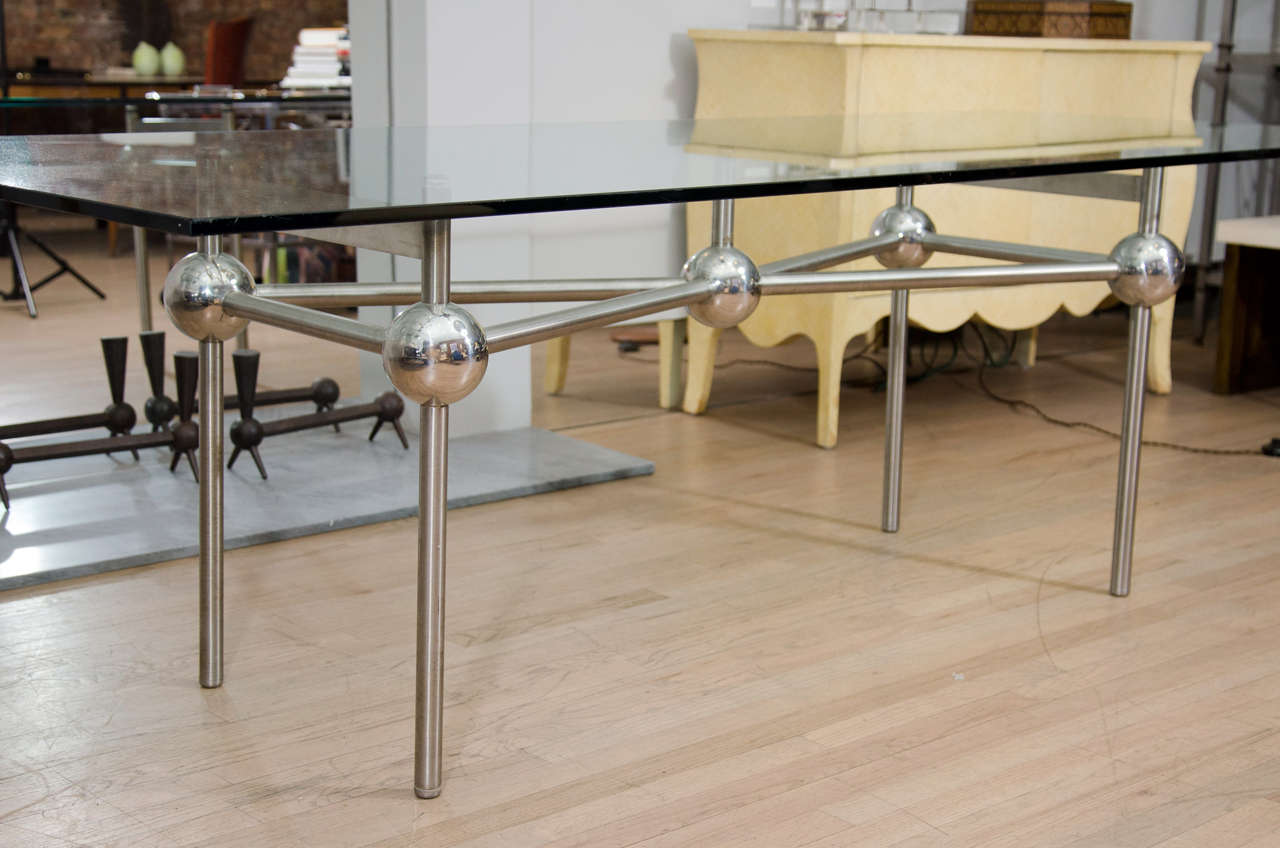 French Mid-Century Console Table For Sale