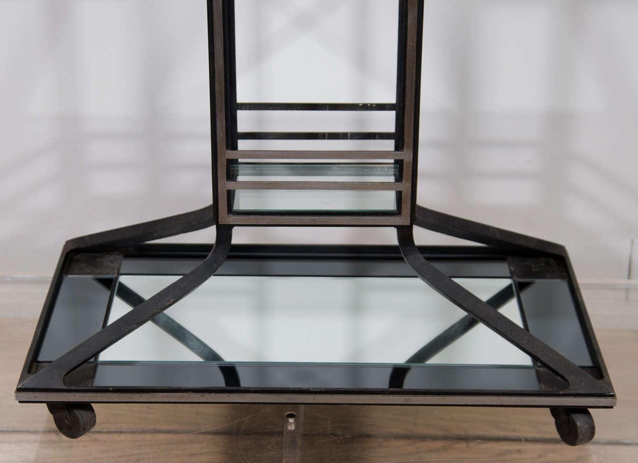French Two Tone Art Deco Bar For Sale