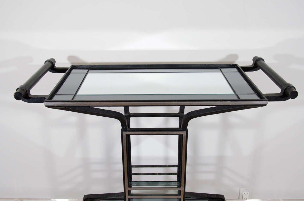 20th Century Two Tone Art Deco Bar For Sale