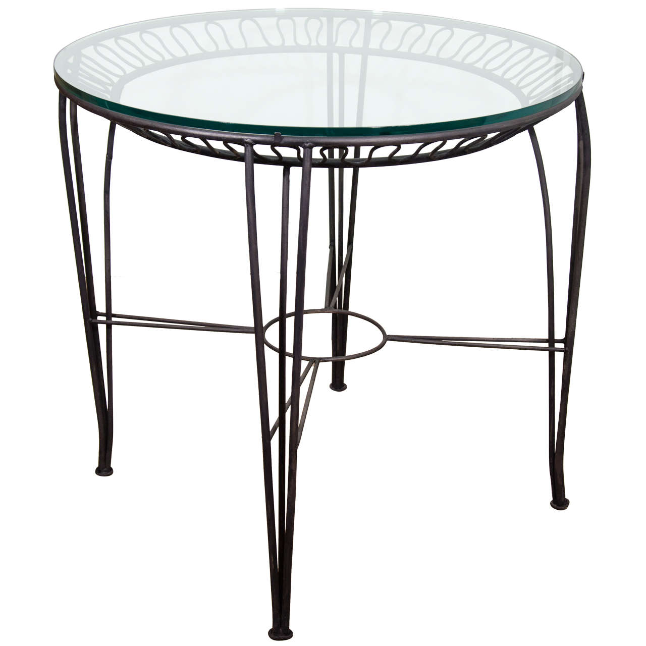 Wrought iron center table at 1stdibs for Furniture centre table