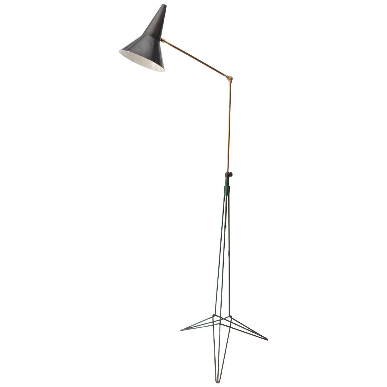 Two tone italian floor lamp 1950s at 1stdibs for 1950s floor lamps