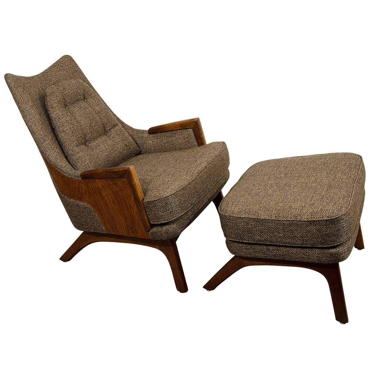 Midcentury Adrian Pearsall Lounge Chair with Ottoman at 1stdibs