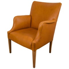 Danish Modern Easy Chair in Leather