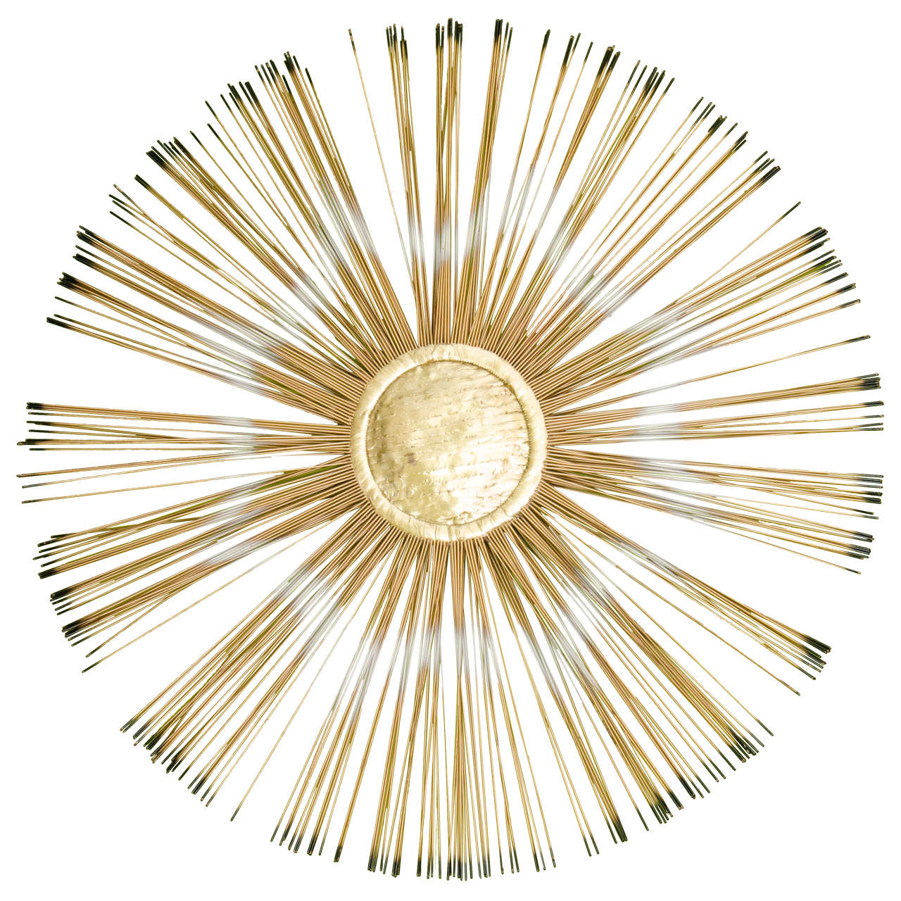Midcentury Sunburst Wall-Mounted Sculpture Inspired by Curtis Jere ...