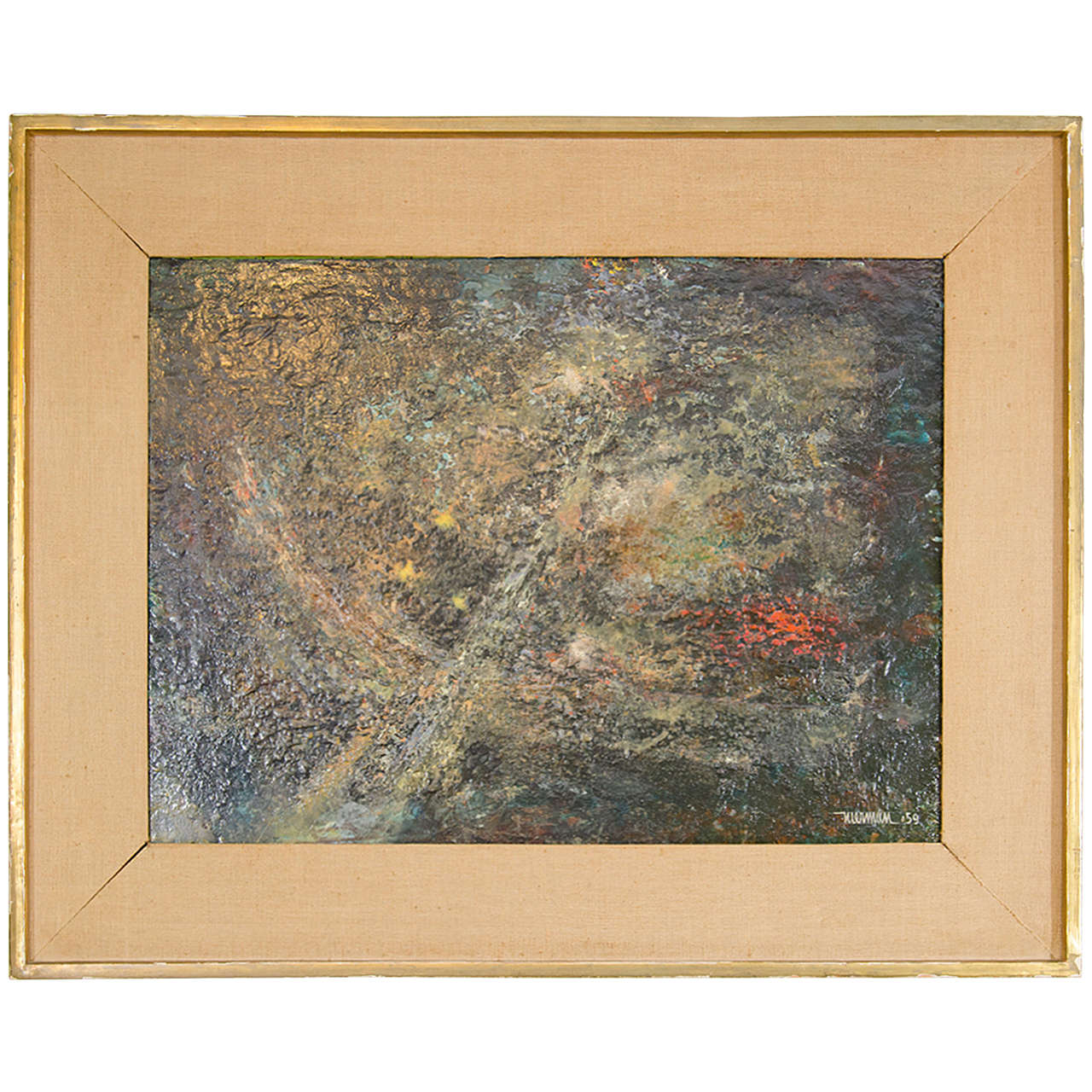 Leonardo Nierman Large Abstract Painting