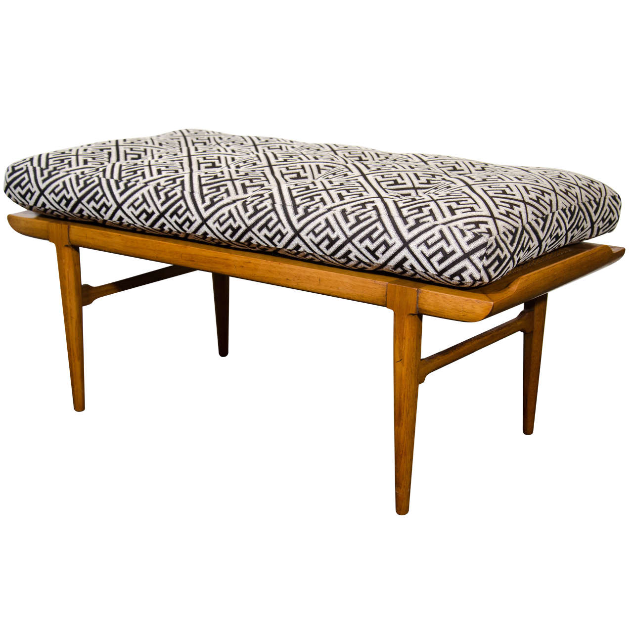 Midcentury Asian Inspired Bench By Tomlinson At 1stdibs