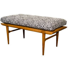 Midcentury Asian Inspired Bench by Tomlinson