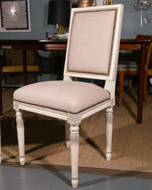 SET OF EIGHT LOUIS XVI STYLE DINING CHAIRS At 1stdibs