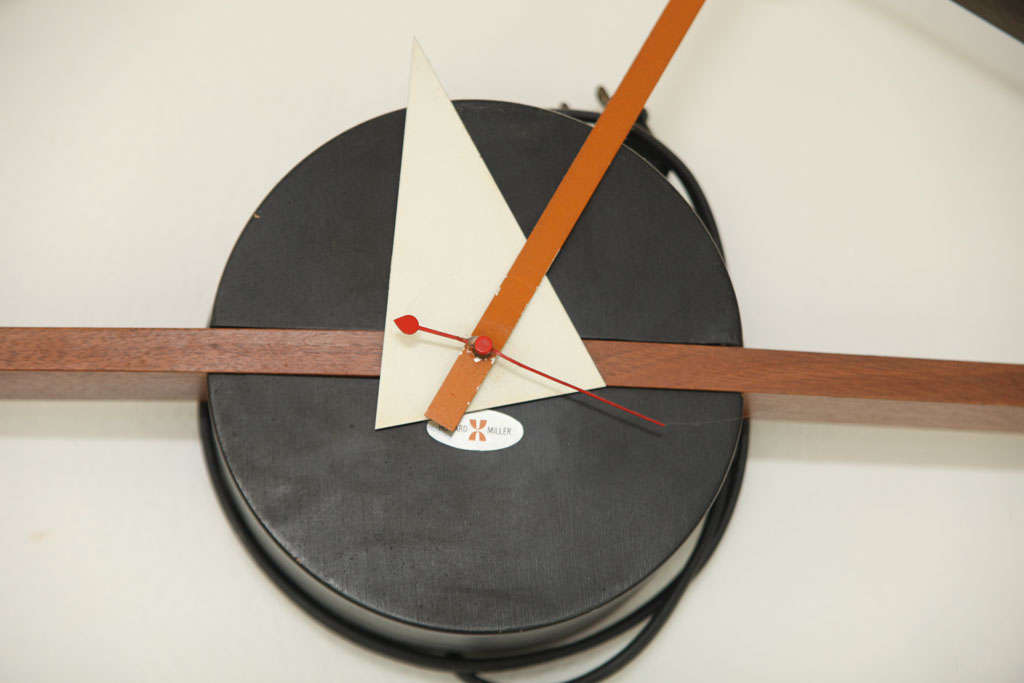 george nelson eye clock for sale at 1stdibs. Black Bedroom Furniture Sets. Home Design Ideas