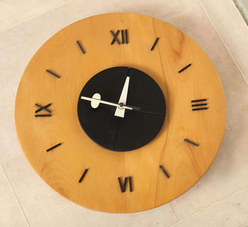 George nelson and associates wooden dish clock for sale at for Nelson wall clock