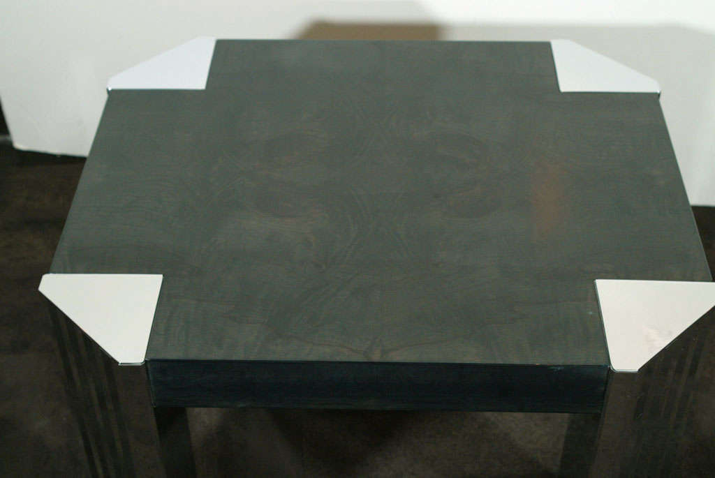 Mid-Century Modern Bookmatched Ebonized Walnut Occasional Table by Pace In Excellent Condition For Sale In New York, NY