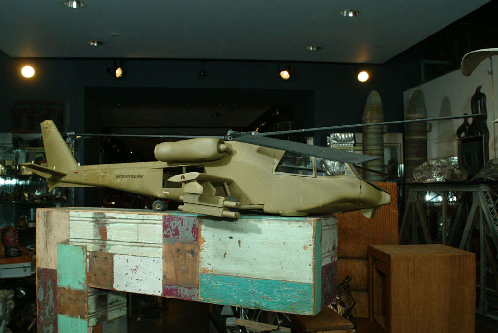 Maker's model of the Sikorsky UH 60 Blackhawk Helicopter. Amazing scale, and a great militaria object.