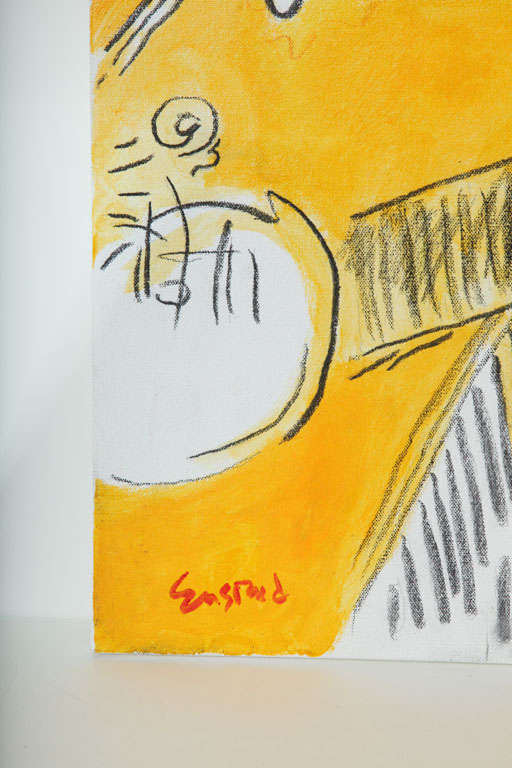 Hand-Painted Nude Painting by Wayne Ensrud, circa 1986 For Sale