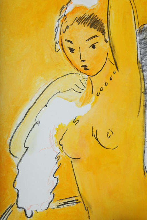 Acrylic Nude Painting by Wayne Ensrud, circa 1986 For Sale
