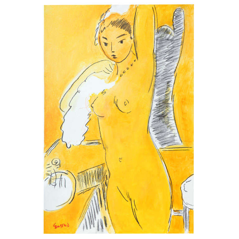 Nude Painting by Wayne Ensrud, circa 1986 For Sale