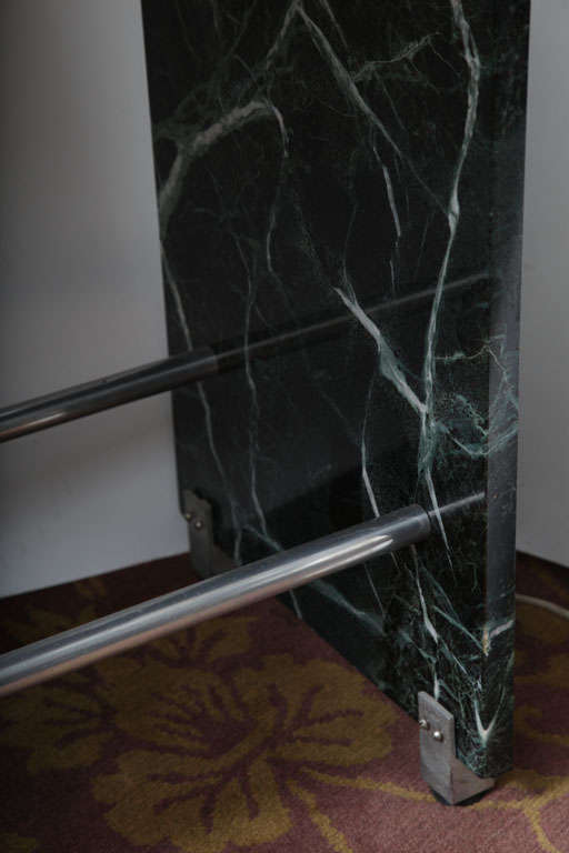 Jacques Adnet Marble Chrome and Mirror Vanity/ Desk In Good Condition For Sale In New York, NY