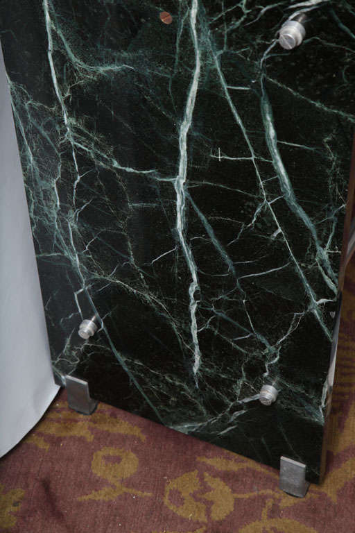 Jacques Adnet Marble Chrome and Mirror Vanity/ Desk For Sale 2
