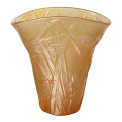Amber Phoenix Grasshopper Vase