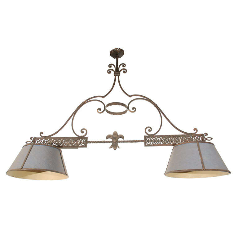 Vintage French Pool Table Light At 1stdibs