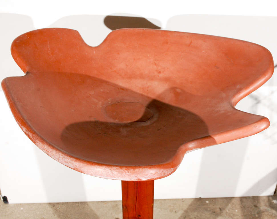 20th Century Architectural Pottery Bird Spa For Sale