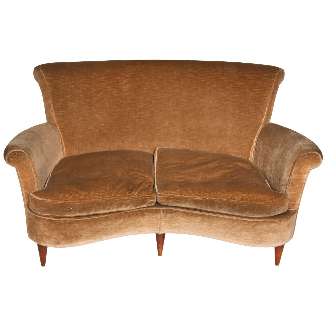 1940s curved italian design sofa at 1stdibs for 1940s furniture design
