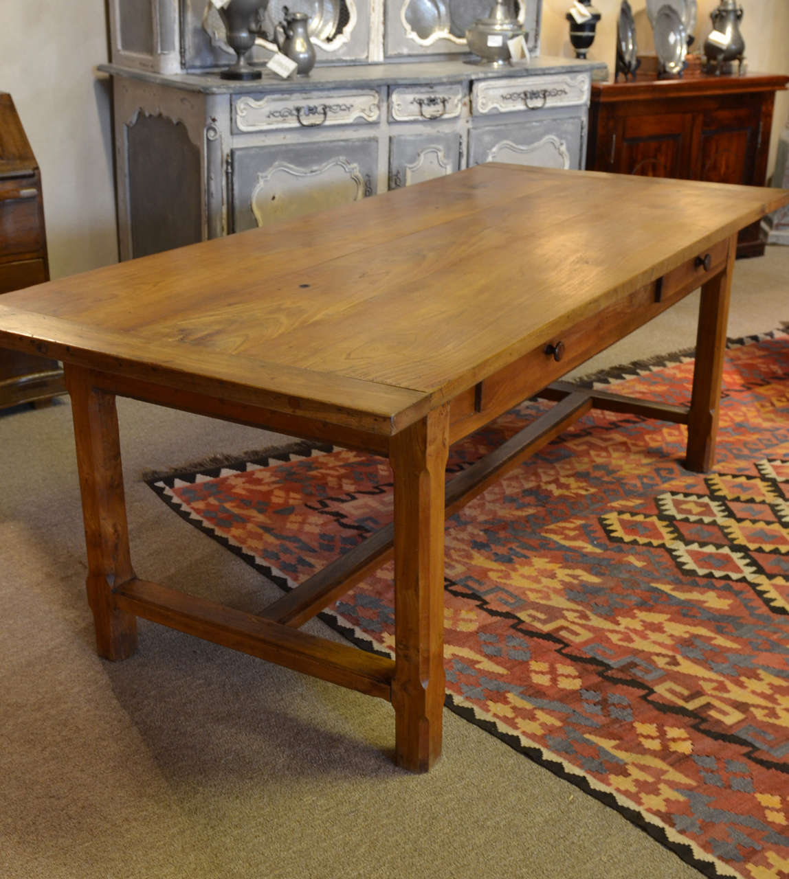 Vintage French Trestle Table 3
