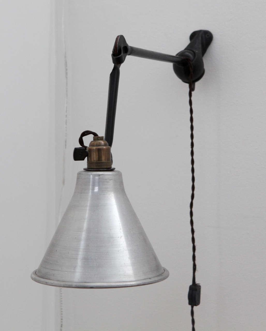 pair of la lampe gras wall appliqu s france 1920 at 1stdibs. Black Bedroom Furniture Sets. Home Design Ideas