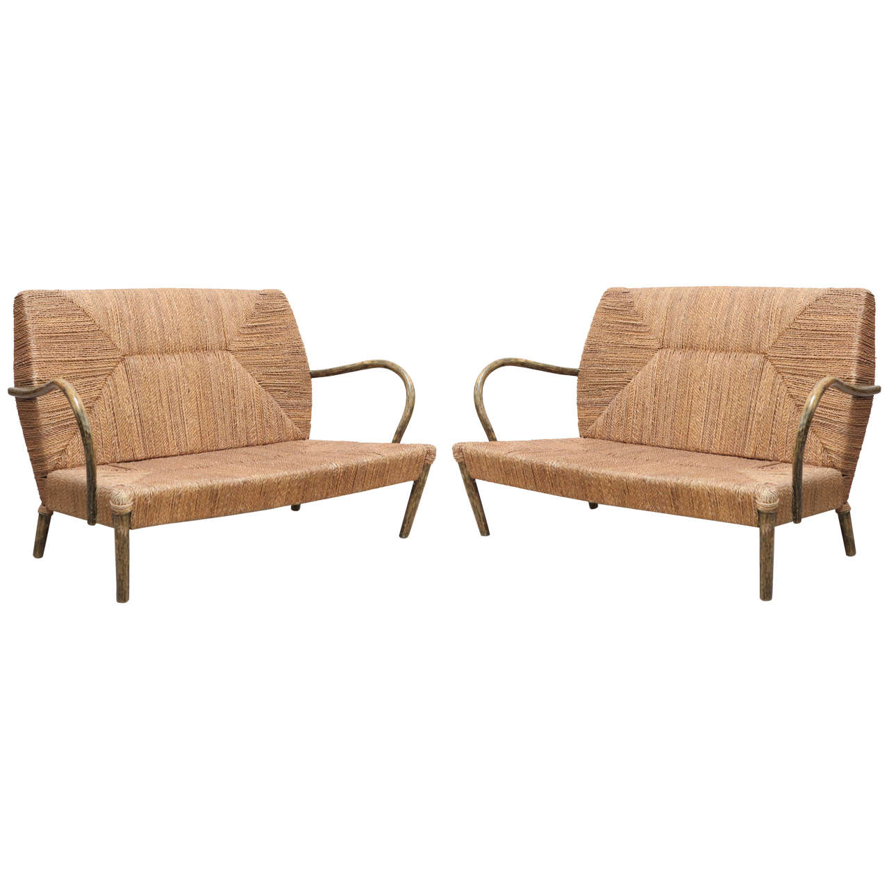 A Pair of Loveseats - Belgium 1970s