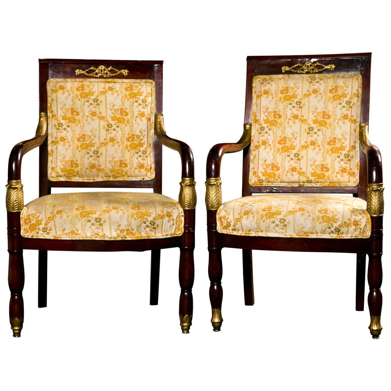 pair of louis philippe fauteuils for sale at 1stdibs. Black Bedroom Furniture Sets. Home Design Ideas