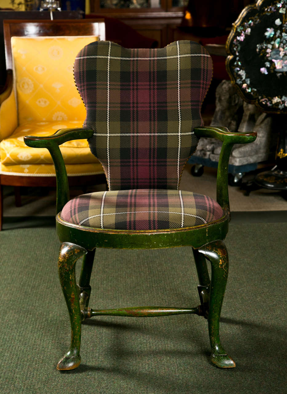 George II Set of Four Chinoiserie Armchairs For Sale