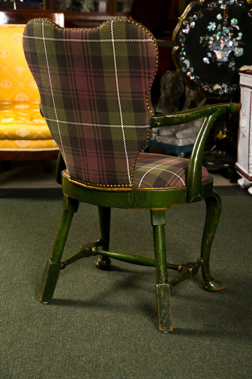 Set of Four Chinoiserie Armchairs For Sale 4