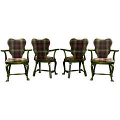 Set of Four Chinoiserie Armchairs