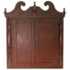 Wall Mount Folk Art Style Cupboard / Cabinet