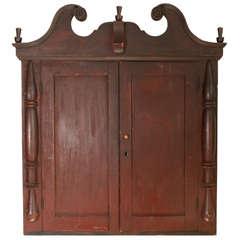 Wall Mount Folk Art Style Cupboard / Cabinet