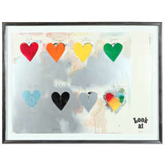 Jim Dine | 8 Hearts, 1970 | Signed Lithograph