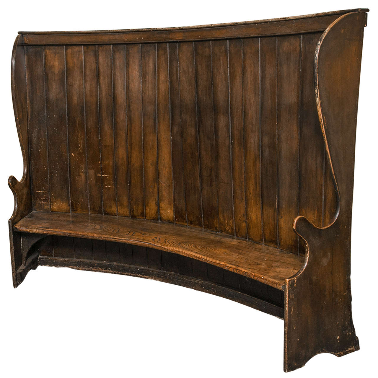 Very Rare English Settle Bench At 1stdibs