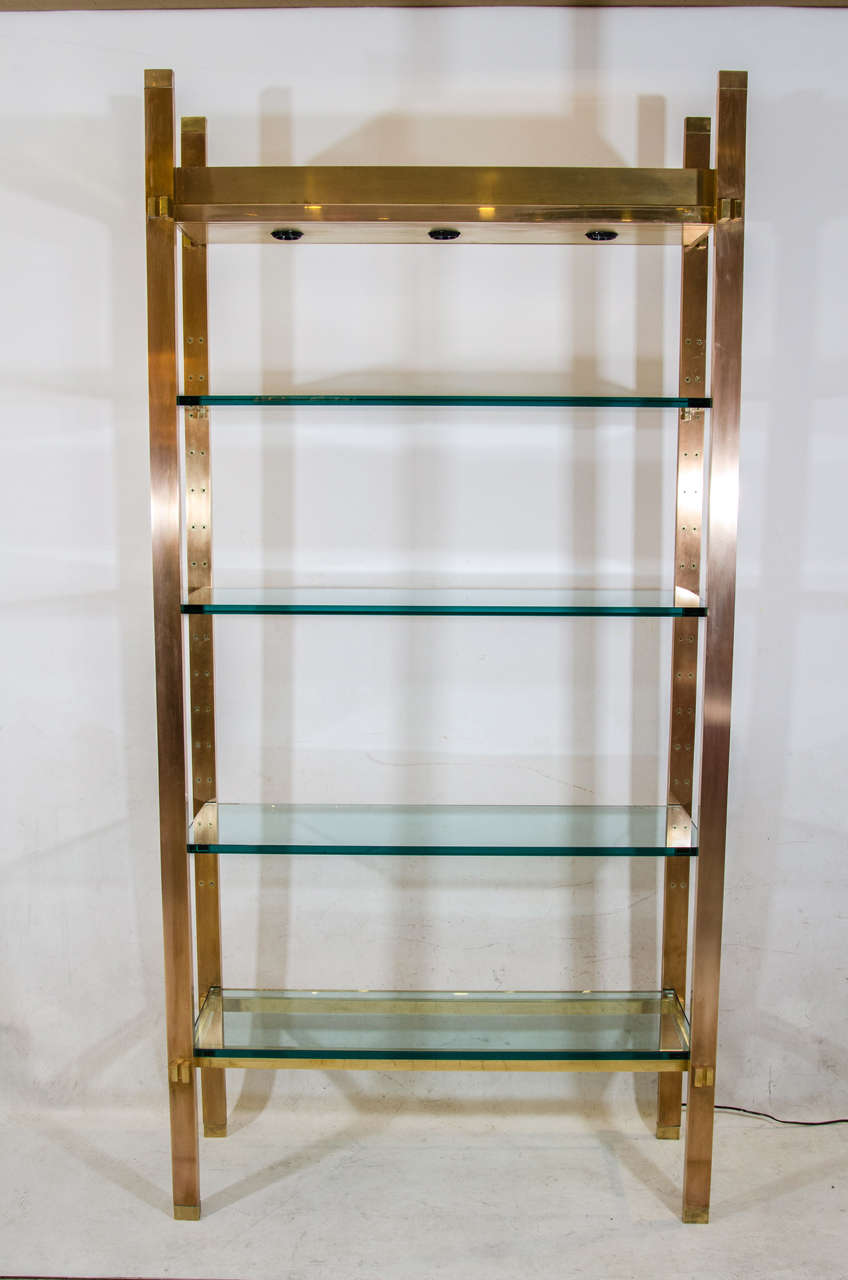 Exceptional Illuminated Etagere designed by Paul M. Jones For Sale ...