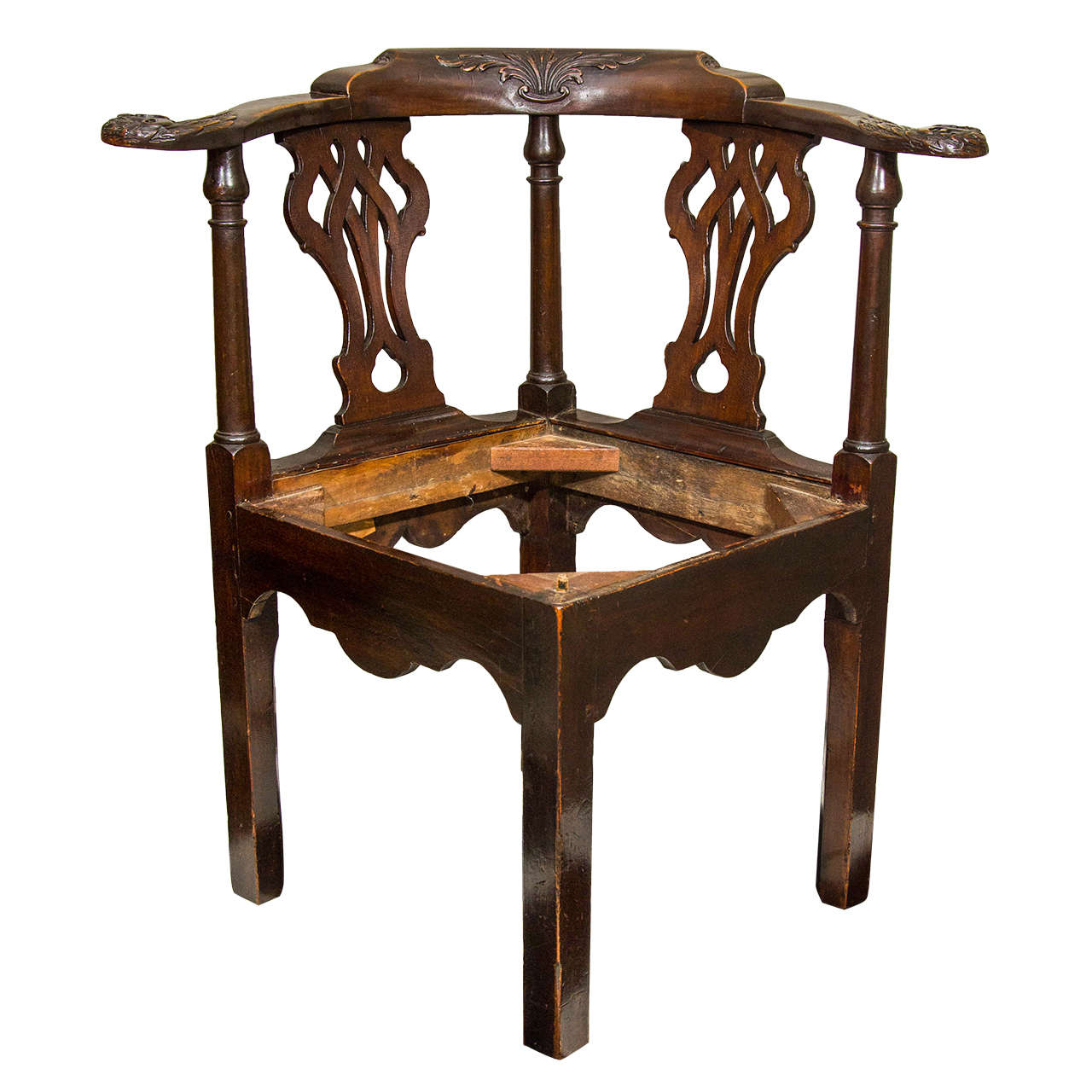 - 18th Century Irish Corner Chair For Sale At 1stdibs