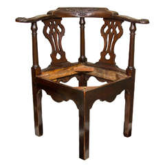 18th Century Irish Corner Chair