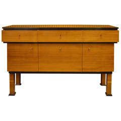 1920 Rectangular Walnut Italian Art Deco Sideboards