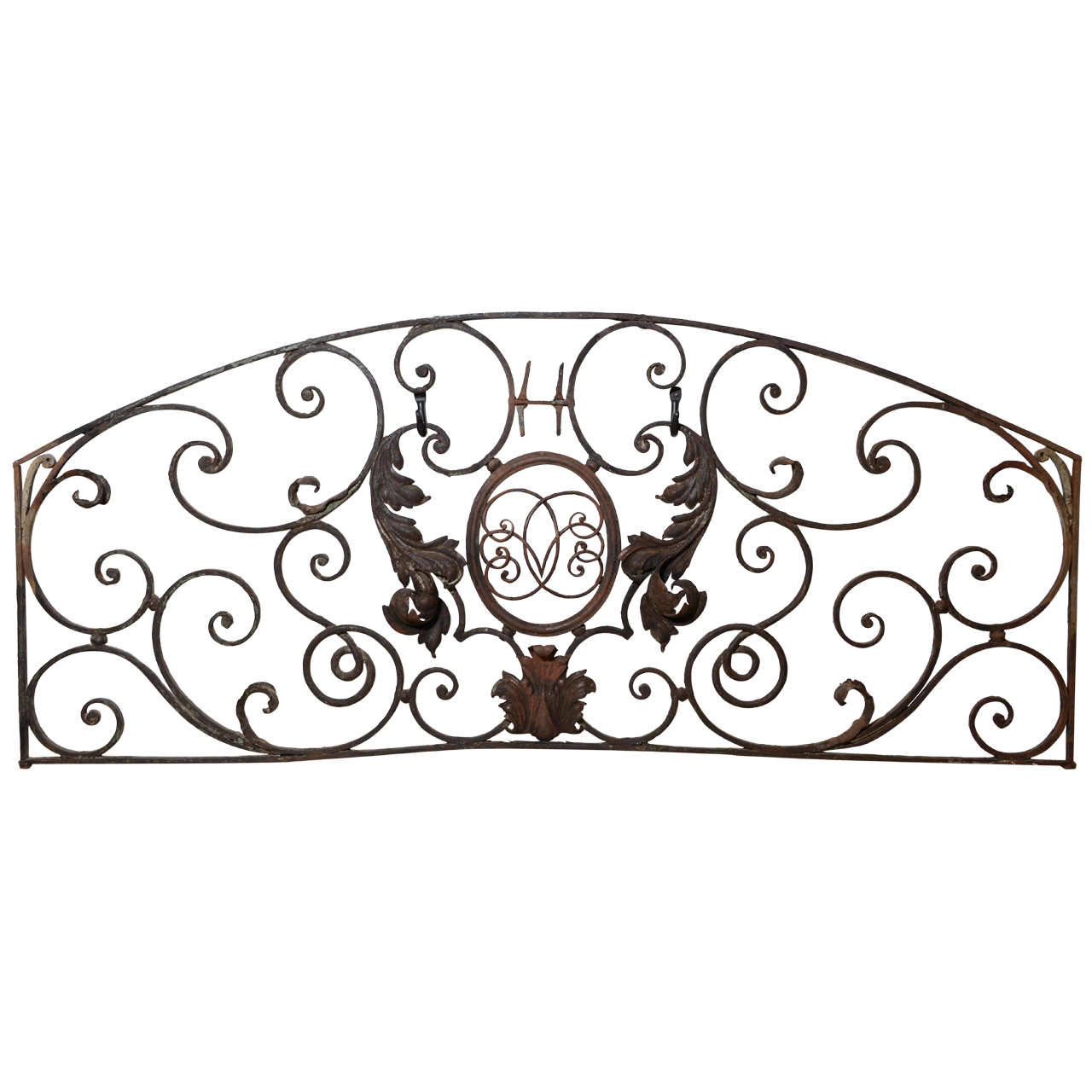 19 c wrought iron wall hanging at 1stdibs for Wrought iron home decorations