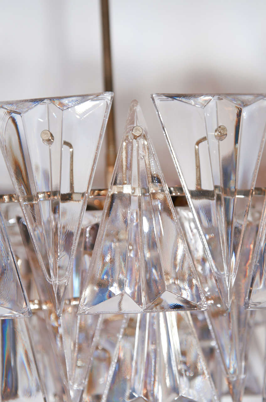1940 S Cut Crystal 3 Tier Chandelier At 1stdibs