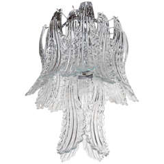 Exquisite Murano Glass Acanthus Leaves Chandelier by Barovier & Toso