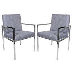 Pair of Mid-Century Modern Side Chairs by Milo Baughman