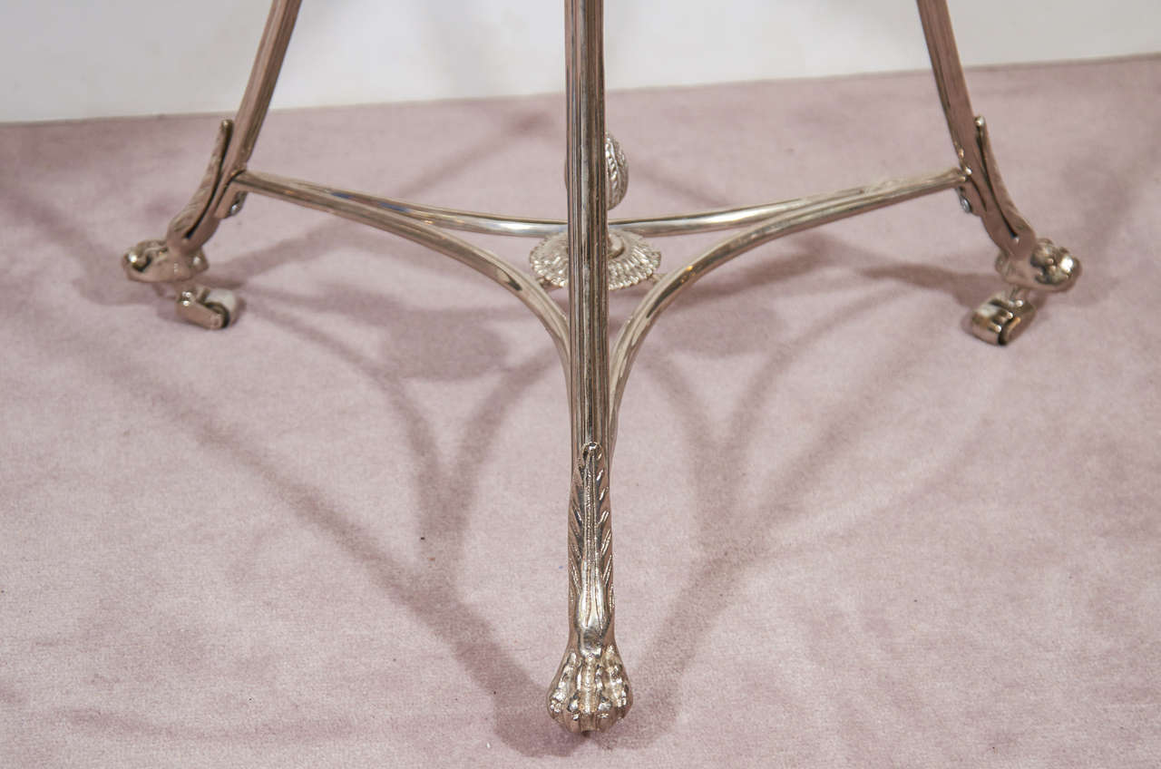 Mid-Century Pair of Glass and Chrome French Lamp Tables 7