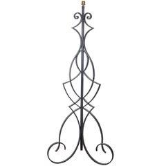 A Mid Century Wrought Iron Floor Lamp Attributed to Robert Merceris