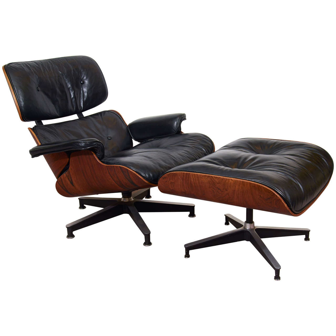 charles and ray eames 670 671 lounge chair and ottoman at 1stdibs. Black Bedroom Furniture Sets. Home Design Ideas