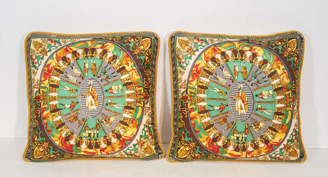 A Set of Five Baroque Style Decorative Versace Silk Pillows at 1stdibs