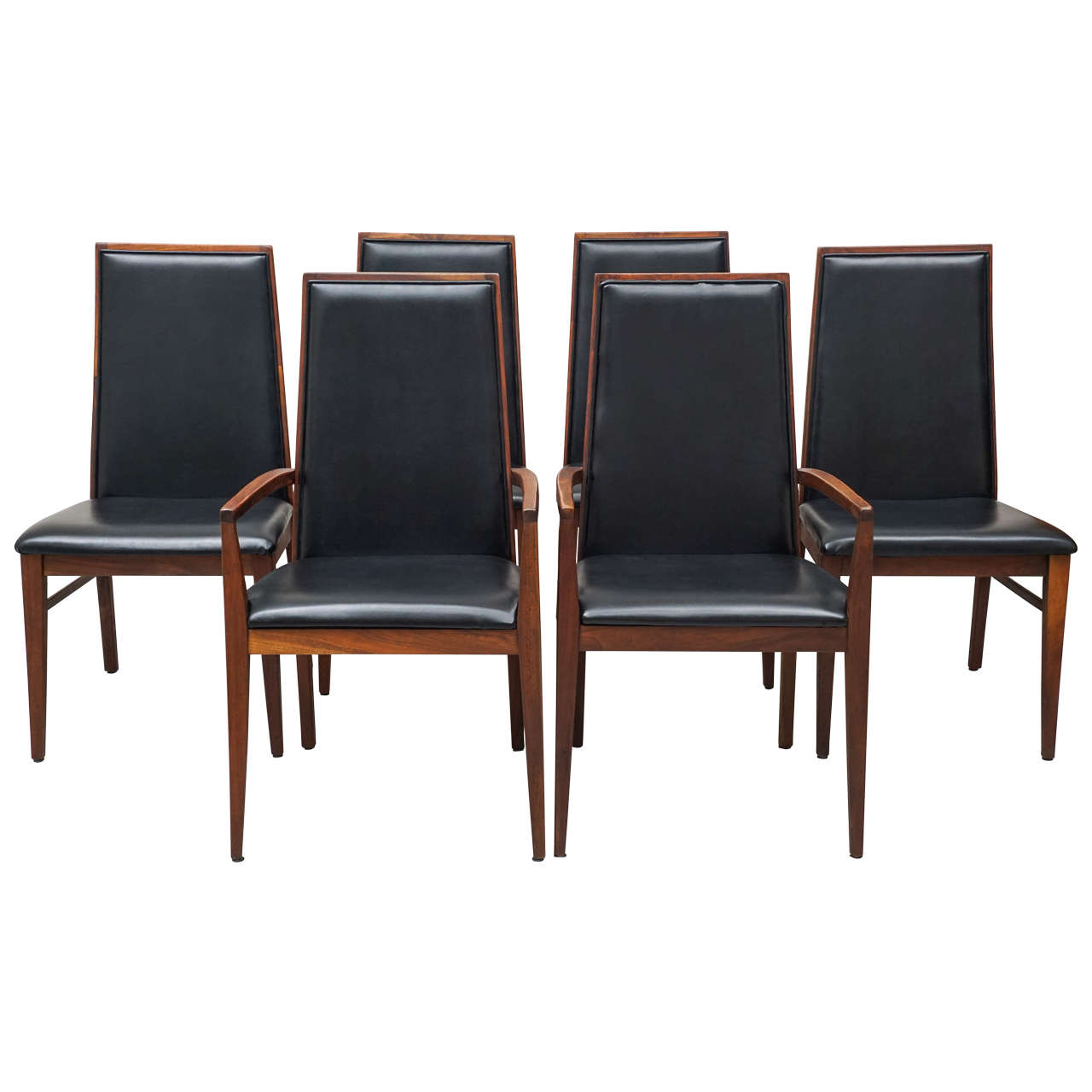 Six milo baughman chairs for dillingham at 1stdibs for 4 x dining room chairs